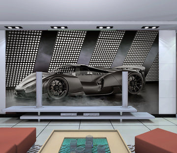 3D Black Car 959 Vehicle Wall Murals Wallpaper AJ Wallpaper 2
