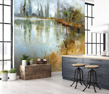 3D Country Road 1412 Anne Farrall Doyle Wall Mural Wall Murals