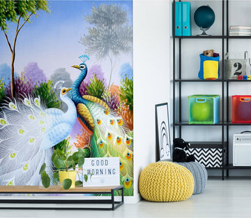 3D Color Peacock 2098 Wall Murals