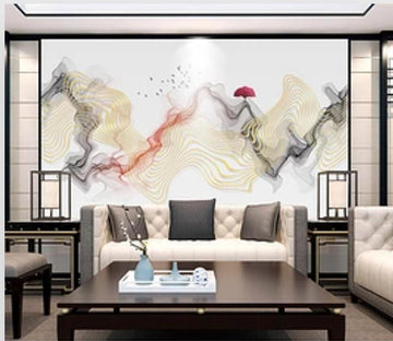 3D Red Sun 1926 Wall Murals