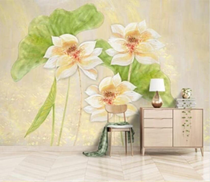 3D Lotus 2066 Wall Murals