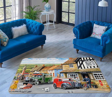 3D The Post Office 1115 Trevor Mitchell Rug Non Slip Rug Mat