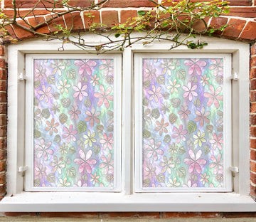 3D Pink Petals 168 Window Film Print Sticker Cling Stained Glass UV Block