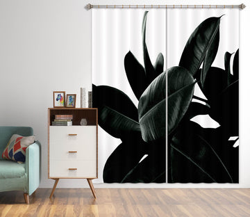 3D Leaf Shadow 1140 Boris Draschoff Curtain Curtains Drapes