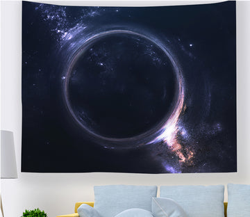 3D Black Sphere 2353 Tapestry Hanging Cloth Hang