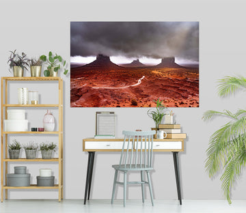 3D Red Valley 184 Marco Carmassi Wall Sticker