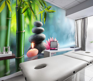 3D Bamboo Candle 087 Wall Murals