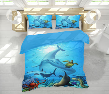 3D Ocean Life 18068 Jerry LoFaro bedding Bed Pillowcases Quilt