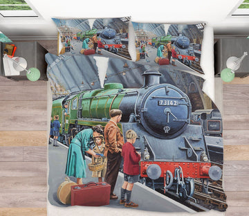3D By Train 2053 Trevor Mitchell bedding Bed Pillowcases Quilt Quiet Covers AJ Creativity Home