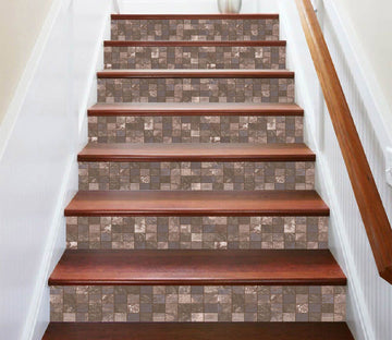 3D Square Mosaic 6650 Marble Tile Texture Stair Risers Wallpaper AJ Wallpaper