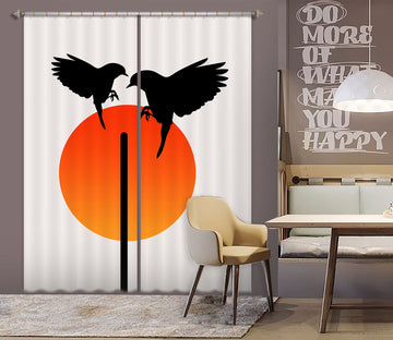 3D Magpie Wings 1131 Boris Draschoff Curtain Curtains Drapes