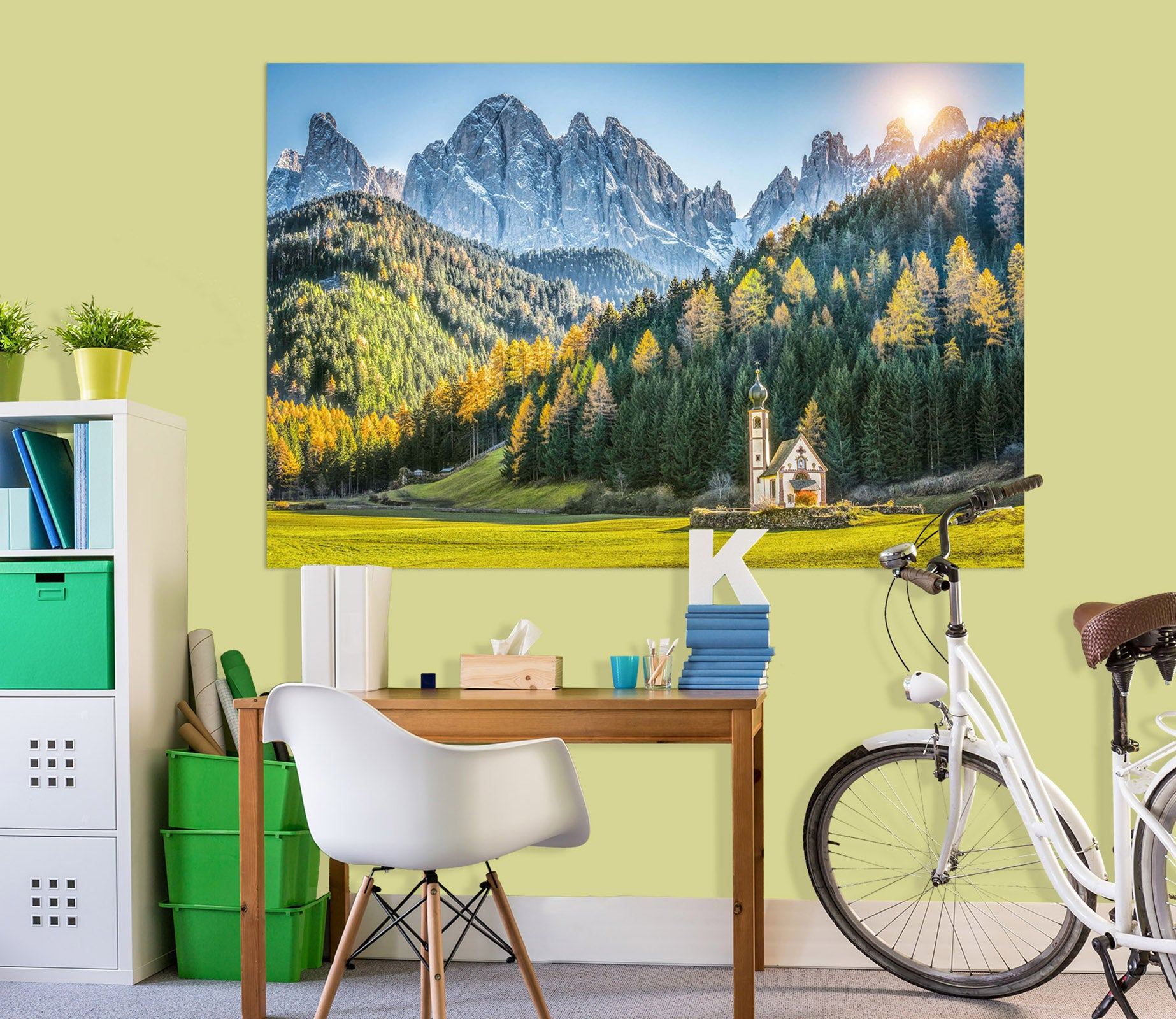3D Sunny Forest 191 Marco Carmassi Wall Sticker