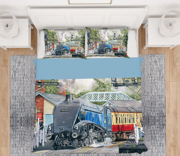 3D Sir Nigel Gresley  2050 Trevor Mitchell bedding Bed Pillowcases Quilt