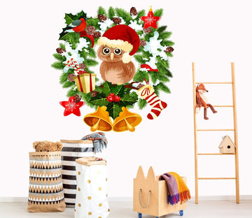 3D Owl Bell Hat 26 Wall Stickers Wallpaper AJ Wallpaper
