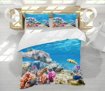 3D Fish Coral 21053 Bed Pillowcases Quilt