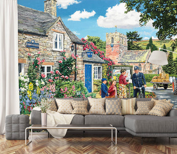 3D The Police House 1063 Trevor Mitchell Wall Mural Wall Murals