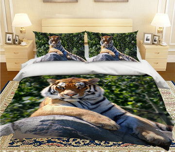 3D Tiger King 2005 Bed Pillowcases Quilt