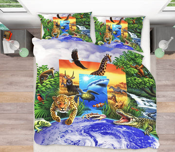 3D Wild World 86052 Jerry LoFaro bedding Bed Pillowcases Quilt