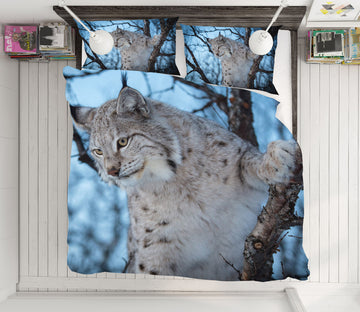 3D White Leopard 21023 Bed Pillowcases Quilt
