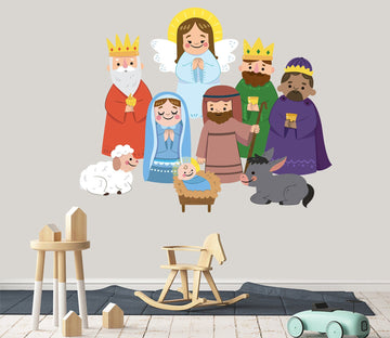 3D Angel Cartoon Crown 16 Wall Stickers Wallpaper AJ Wallpaper
