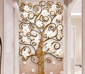 3D Golden Tree 2239 Wall Murals