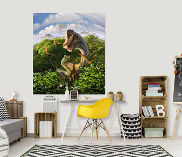 3D Long Necked Dragon 029 Jerry LoFaro Wall Sticker