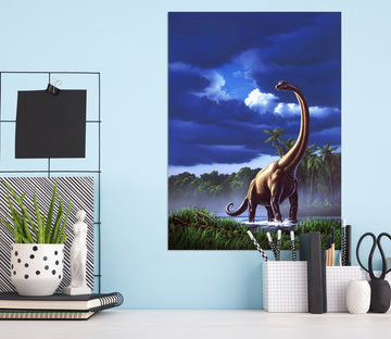 3D Long Necked Dragon 028 Jerry LoFaro Wall Sticker
