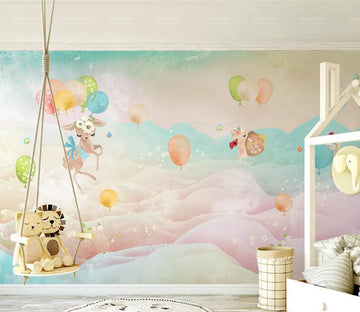 3D Colorful Balloons WC208 Wall Murals