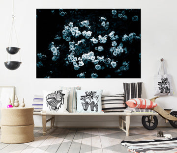 3D Rose In Bloom 016 Noirblanc777 Wall Sticker