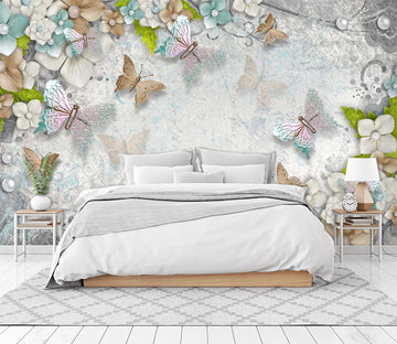 3D Butterfly Flower 1602 Wall Murals