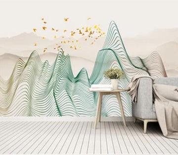 3D Colored Valley 2062 Wall Murals