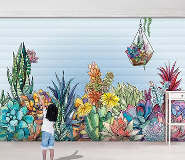 3D Colored Flowers 1142 Wall Murals