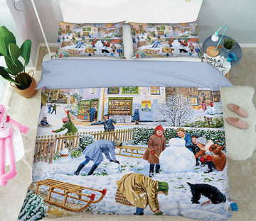 3D Winter Games 2077 Trevor Mitchell bedding Bed Pillowcases Quilt