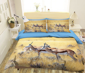 3D Antelope Running 1995 Bed Pillowcases Quilt Quiet Covers AJ Creativity Home