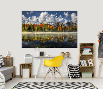 3D Valley Lake 181 Marco Carmassi Wall Sticker