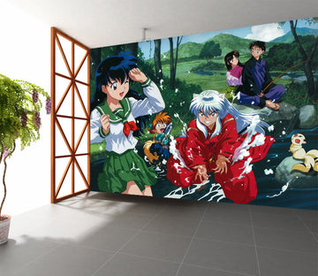 3D Inuyasha Playing Water 16 Wallpaper AJ Wallpaper 2