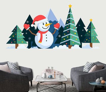 3D Christmas Tree Colored Dots 19 Wall Stickes
