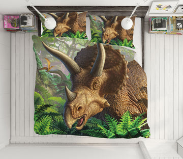 3D Triceratops 18074 Jerry LoFaro bedding Bed Pillowcases Quilt