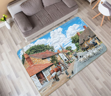 3D The Village Farrier 1123 Trevor Mitchell Rug Non Slip Rug Mat