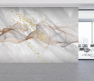 3D Marble Bird 004 Wall Murals