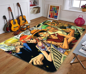 3D ONE PIECE 729 Anime Non Slip Rug Mat