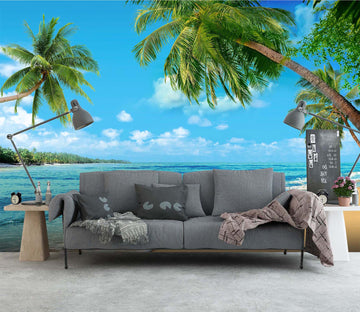 3D Wave Beach 27 Wall Murals