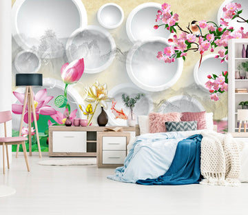 3D Safflower 1635 Wall Murals