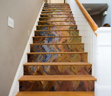 3D Bone Painting 481 Marble Tile Texture Stair Risers Wallpaper AJ Wallpaper