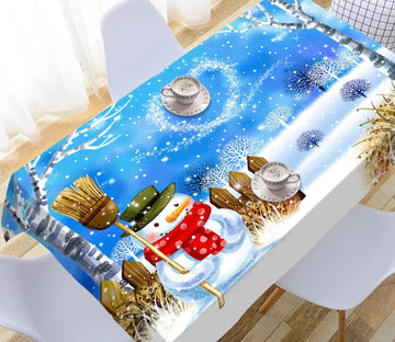 3D Christmas Scenery Snow 60 Tablecloths Tablecloths AJ Creativity Home