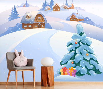 3D Snowy Christmas Xmas 5 Wallpaper AJ Wallpaper
