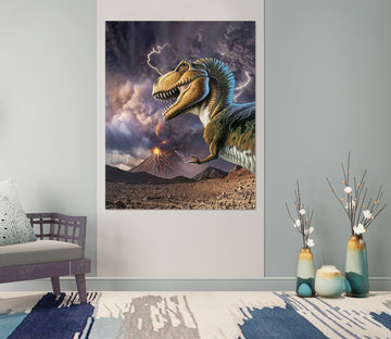 3D Sawtooth Dragon 037 Jerry LoFaro Wall Sticker