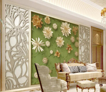 3D Lotus Pond WC188 Wall Murals