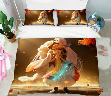 3D Inuyasha 4 Anime Bed Pillowcases Quilt