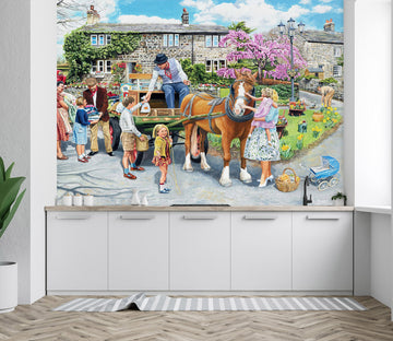3D Petting The Horse 1044 Trevor Mitchell Wall Mural Wall Murals